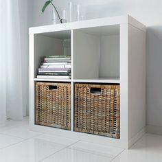 Meuble tv en bois et tag res de rangement assorties - Meuble rangement casier ikea ...