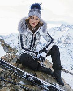 Sportalm Arlington Animal Print Jacket with Real Fur Hood Trim