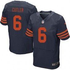 Men s Nike Chicago Bears  6 Jay Cutler Elite 1940s Throwback Alternate Navy  Blue Jersey  89.99 e1e9787cf