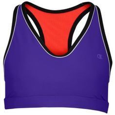 Champion Sweetheart High-Impact Sports Bra - Women's - Running - Clothing - Purple Haze/Black/White/Illusion Orange