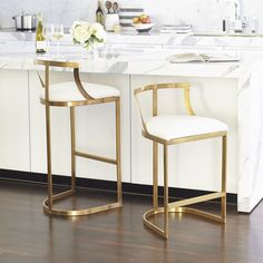 Emerson Counter Stool - Brass - NEW