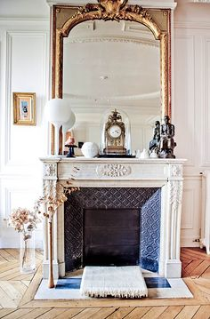 loving this overall style. The dimension of the fireplace, pattern and (illusion of) blue in image is good inspiration.