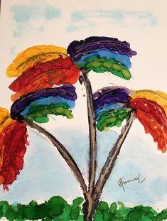 """Happy Palms"" Lovitude Soul Painting by Annie Pryor"