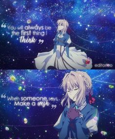 Anime : Violet Evergarden Anime Quotes