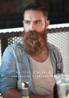 Long beard, short hair