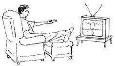 le gusta ver la tele