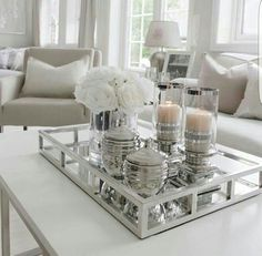 37 Best Coffee Table Decorating Ideas and Designs for Pretty Ways to Style. 37 Best Coffee Table Decorating Ideas and Designs for Pretty Ways to Style a Coffee Table, Designer Tips for Styling Your Coffee Table, How To Decorate A Coffee Table, Coffee Table Styling, Cool Coffee Tables, Decorating Coffee Tables, Coffee Table Design, Coffe Table, Coffee Table Centerpieces, Centerpiece Ideas, Tray Styling, Table Arrangements
