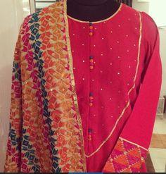 Phulkari love.. Get it done by www.fabdarzi.com