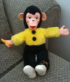 I had one of these stuffed monkeys when I was a kid.  Wish I knew what happened to it!