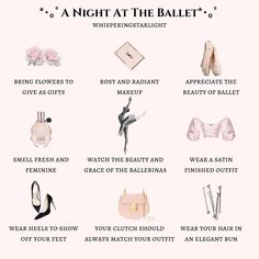 a night at the ballet🌸. thank you for this suggestion, i adore the idea and how this post turned out. see if you can guess which ballet the… Classy Aesthetic, Angel Aesthetic, Aesthetic Vintage, Aesthetic Fashion, Aesthetic Clothes, Belle Aesthetic, Princess Aesthetic, Modern Princess, Girl Life Hacks