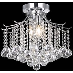 This stunning crystal jewel chandelier will bring a touch of elegance to your entryway or dining room. Featuring soft illumination from three lights as well as a stately chrome finish, this chandelier will be an ideal way to brighten your home. Entryway Light Fixtures, Entryway Lighting, Chandelier Lighting, Crystal Chandeliers, Vintage Chandelier, Modern Chandelier, Flush Mount Lighting, Flush Mount Ceiling, Lights