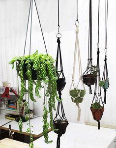 macrame hanger for fern
