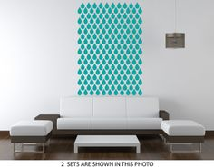 Wall Decals water Drops Pattern. Seamless pattern by CherryWalls, $44.00