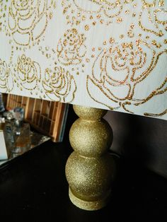 DIY Glitter Lamp & Lampshade (Krylon Glitter Blast Spray Paint)
