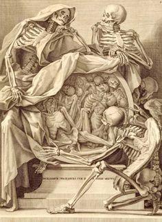 Bernardino Genga - Charles Errand, Anatomia, Rome 1691, pre-frontispiece engraving  SOURCE