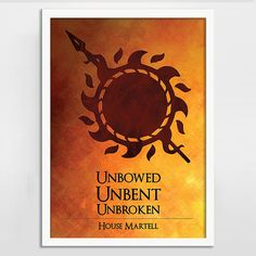 Game of Thrones Art Print Poster - House Martell