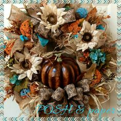 POSH Autumn Pumpkin Wreath