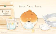 いーすとけん。【公式】 (@yeastken) | Twitter Kawaii Doodles, Kawaii Chibi, Cute Doodles, Kawaii Art, Cute Food Drawings, Cute Animal Drawings Kawaii, Kawaii Drawings, Cute Bakery, Dog Bakery