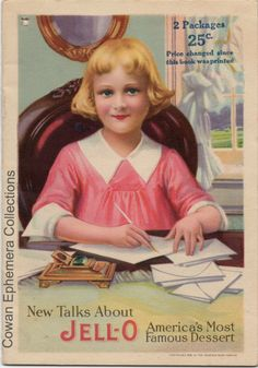 I bought one of these today - Jello girl recipies new talks about jello americas most favorite dessert cowan ephemera collections