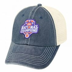 "Relaxed and casual, this National Champions Logo Cap gives ""props"" to your favorite team in an understated way"
