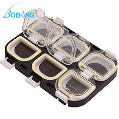 Bobing Waterproof Magnet Portable 6 Compartments Carp Fishing Bait Hooks Accessories Case Boxes Storage Holder Fishing Tackle