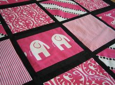 Hey, I found this really awesome Etsy listing at http://www.etsy.com/listing/61355597/quilt-contemporary-pink-and-black