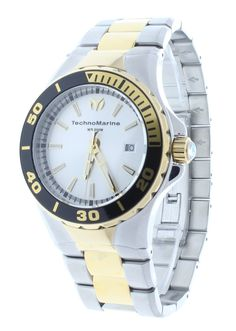3c74da032f3 Technomarine TM-215004 Men s Two-Tone Stainless Steel Watch Sea Manta 44mm  Gold