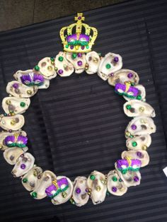 Mardi Gras Oyster Wreath by RheaKesslerDesigns on Etsy.....love this