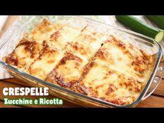 Le crespelle con zucchine e ricotta sono un piatto filante e goloso. Sono facilissime da preparare e stupiranno tutti i vostri ospiti! Baked Pancakes, Pancakes And Waffles, Beignets, Crepes, New Recipes, Vegetarian Recipes, Chicken Margherita, Non Stick Pan, Italian Dishes