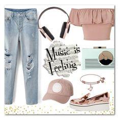 """Music is Feeling"" by elli-argyropoulou on Polyvore featuring Kate Spade, Miss Selfridge, Pryma, STELLA McCARTNEY, Billabong, cap, patentleather, platformsneakers and distresseddenim"