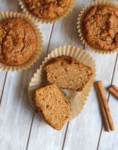 Pumpkin Spice Muffins! Made with coconut flour, these EASY muffins are nut-free, dairy-free, grain-free, and oil-free, and they taste like the delicious pumpkin bread from Starbucks!