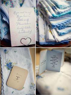 Hankies Wedding Programs Favors Ceremony Gifts Invitations