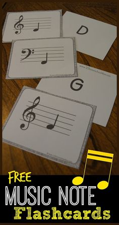FREE Music Note Flashcards such a great tool in helping kids gain fluency while learning music theory for music education playing piano learning and instrument and more. Music Flashcards, Music Worksheets, Worksheets For Kids, Music Lessons For Kids, Music For Kids, Music Education Lessons, Piano Lessons For Beginners, Education Posters, Singing Lessons