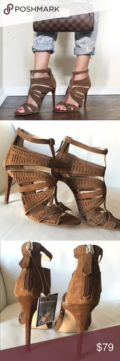 "Zara Brown leather heels 4.25"" Heel , EUR SIZE 37 Zara Shoes"