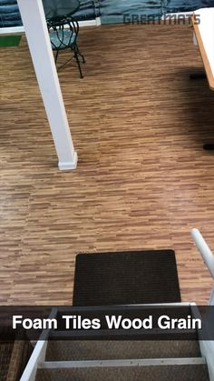 Top Features: -Fabulous wood grain look and feel -Fun for family rooms -Waterproof and cushion flooring -Fast and easy to DIY install -Two border strips included with each tile -Available in wood grains and cork design -Lead free and latex free  Use Types: Basement Wood Foam Tiles, Interlocking Faux Wood Flooring, Home Wood Look Foam Mats Rubber Flooring For Basement, Faux Wood Flooring, Basement Flooring Options, Foam Flooring, Foam Floor Tiles, Interlocking Floor Tiles, Wood Grain Tile, How To Waterproof Wood, White Fireplace