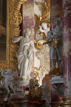 High altar - Wieskirche. Steingaden, Oberbayern. Middle European Rococo & Baroque