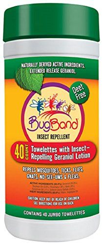 Bug Band Insect Repellent Geraniol Towelettes * See this great product.