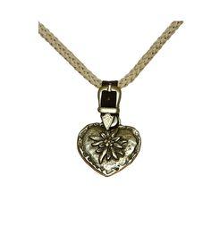 Stockerpoint Trachten Halskette K20 natur mit Metallherz