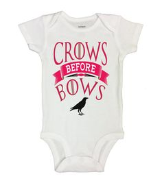 """Cute Baby Onesie """" Crow's Before Bows """"  Movie Collection Onesies - Game of Thrones - Kids Funny Bodysuits - Baby Thrones Bodysuits - 158"""