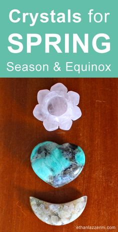 Crystals for Spring Season & Spring Equinox. Learn which healing crystals to wear or display in your home or altar to work with the energy of nature. Spring decor ideas for good vibes. Vernal Equinox, Altar Decorations, Sabbats, Summer Solstice, Crystal Healing, Healing Stones, Feng Shui, Spring Time, Stones And Crystals