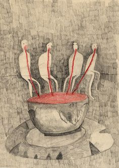 "Saatchi Online Artist forouz zarei; Drawing, ""my life"" #art"