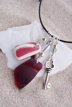 Sea Glass Necklace  Treasures from the Sea by SilverBeachSeaGlass, $46.00