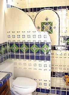 mexican tile bathroom bathroom shower using mexican tiles by kristiblackdesigns 13644