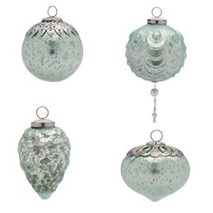 Foreside - Mercury Glass Ornaments S/12 Lg, Lt Blue at Ace Hardware Amarillo