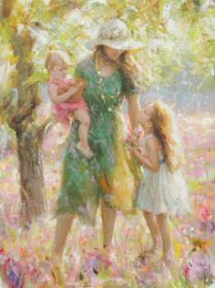 Kai Fine Art is an art website, shows painting and illustration works all over the world. Mother Daughter Art, Mother Art, Mother And Child, Women Of Faith, Godly Woman, Godly Wife, Virtuous Woman, Mothers Love, Beautiful Paintings