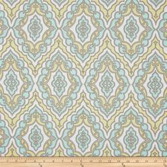 Michael Miller Daydream Girl's Best Friend Aqua from @fabricdotcom  Designed by Swirly Girl Designs for Michael Miller, this fabric is perfect for quilting, apparel and home décor accents. Colors include aqua, beige, cream and lime.