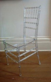 Lucite Bamboo Chair