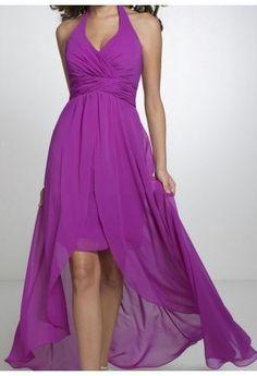 Robe asymétrique violet CH1021