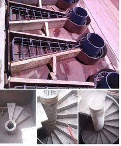 Construction a staircase in spiral shape is the most difficult construction in the field of architecture (How To Construct Spiral Staircase In Your Homes). Spiral Staircase Plan, Spiral Stairs Design, Stair Plan, Concrete Staircase, Home Stairs Design, Interior Stairs, Building Stairs, Beton Design, Stair Detail