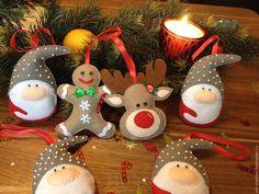 Купить Новогодние игрушки - комбинированный, фетр, фетровая игрушка, фетровые елочные игрушки, фетровые игрушки